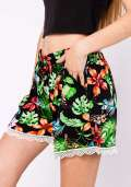 Paradise Floral Shorts in Black