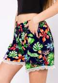 Paradise Floral Shorts in Navy