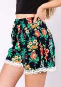 Summer Floral Shorts in Navy