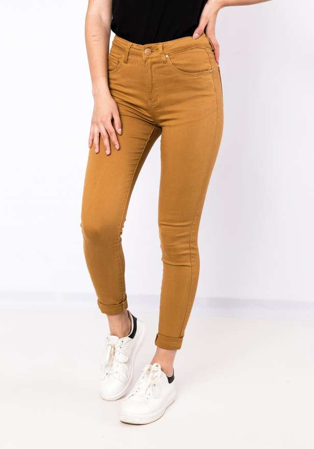 Bae High Waist Jeans In Brown