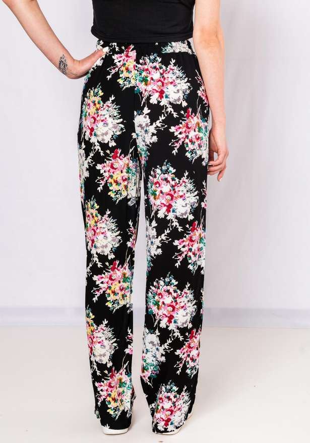 Straight Fit Flower Pants