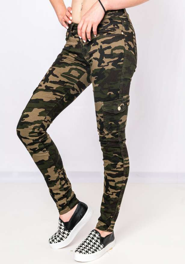 Classic Camo Stretch Jeans Side Pocket