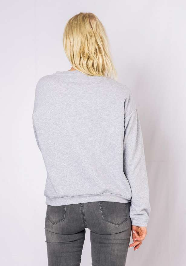 Sequin Sweatshirt In Grey