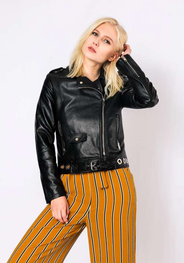Wild Youth Faux Leather Jacket In Black