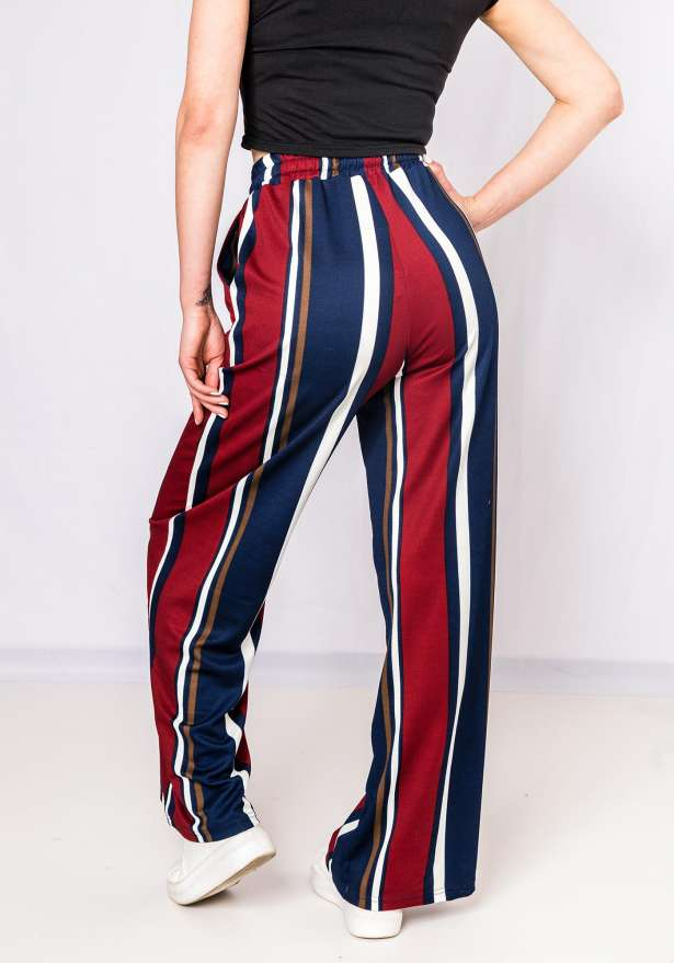Striped Autumn Pants In Navy