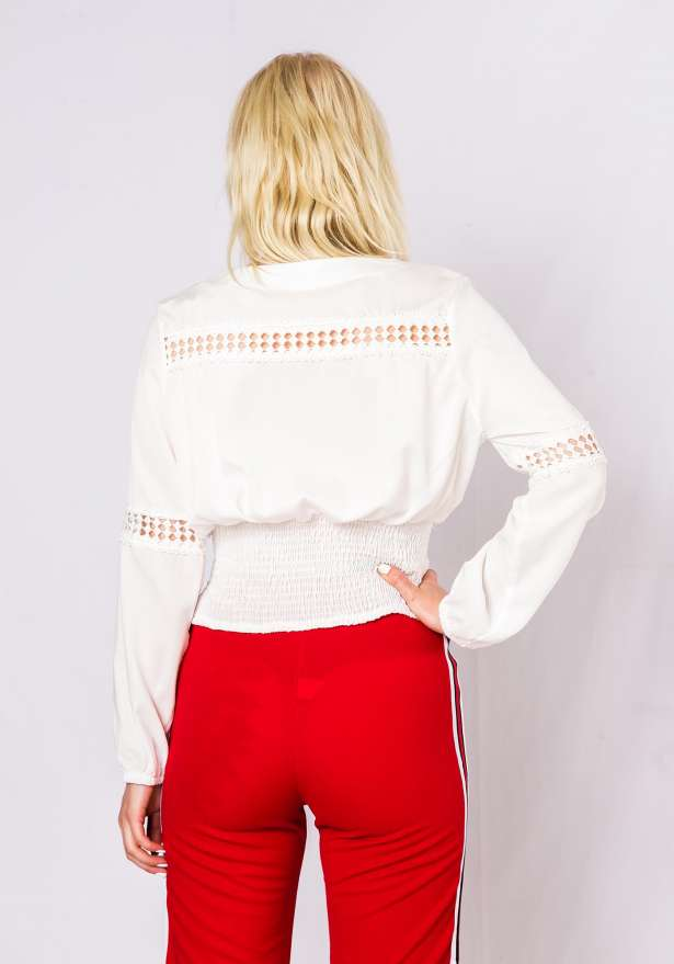 Boho Sun Long sleeve Blouse In White