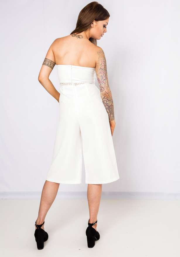 Party Posh Tube Jumpsuit In White