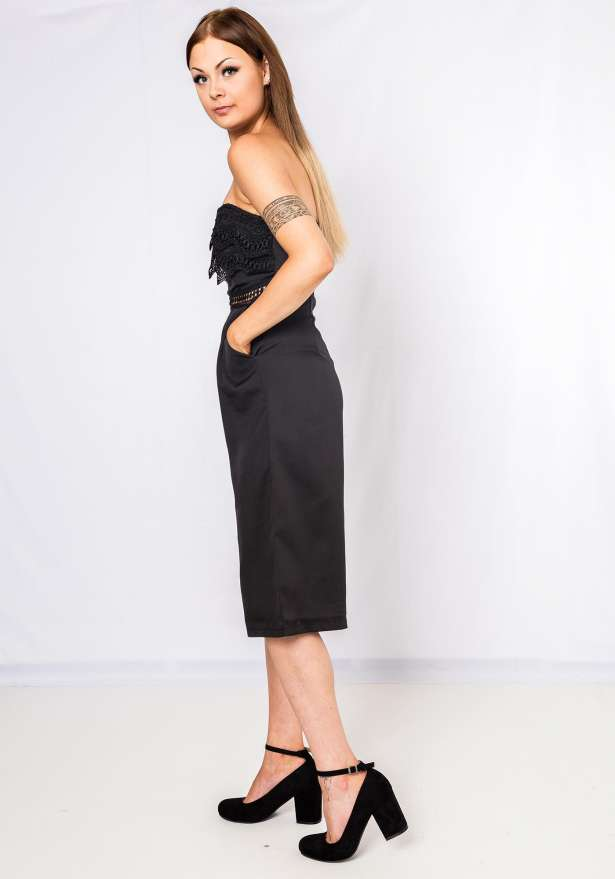 Party Posh Tube Jumpsuit In Black