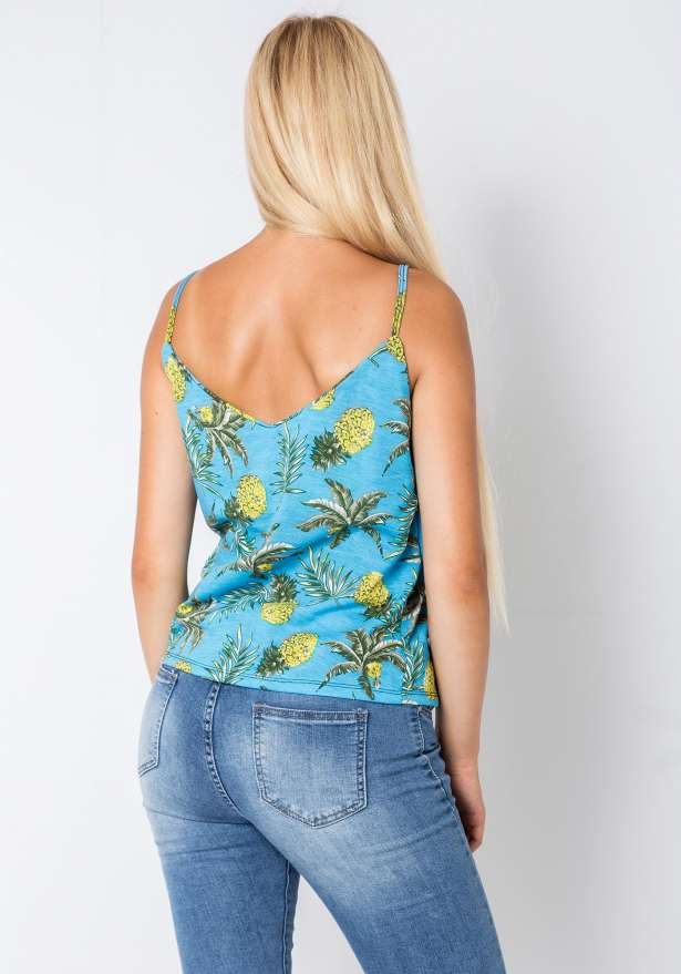 Pineapple Strap Top In Blue