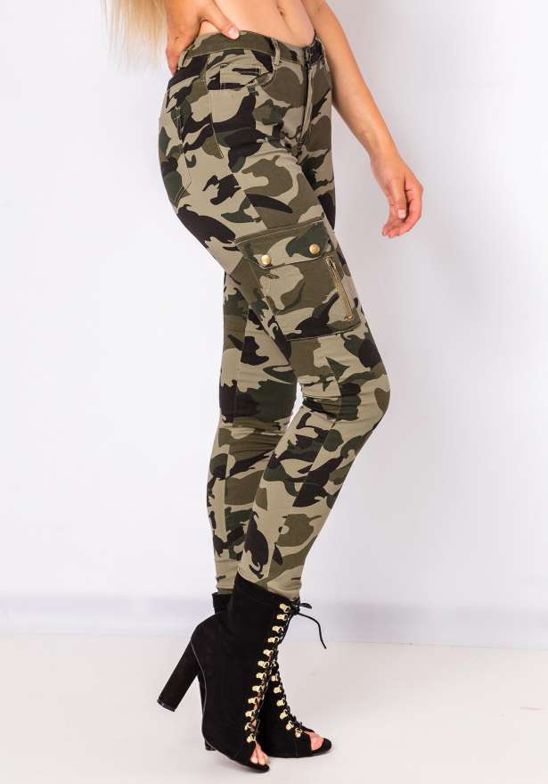 Riri Camo Side Pocket Pants