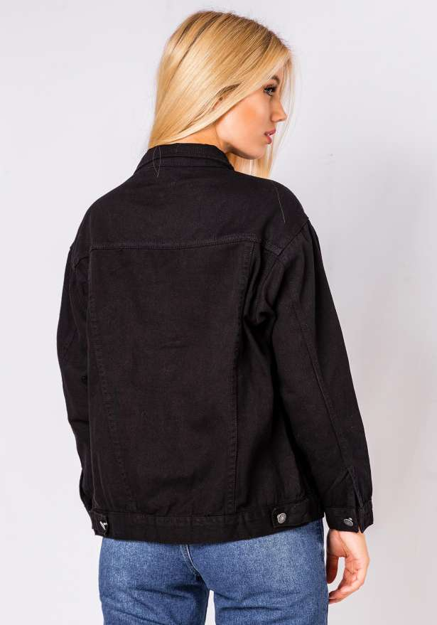 Emily Jeans Jacket In Black