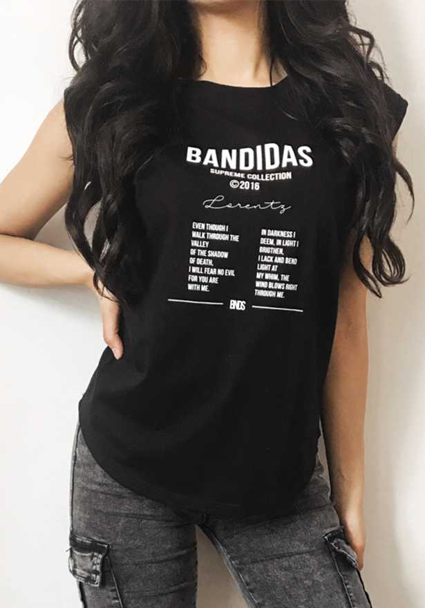Bandidas Black Dope Top