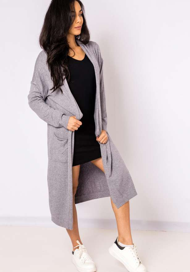 Comfy Longline Sweater In Grey
