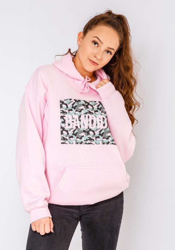 Bandidas Camo Print Hoodie In Pink