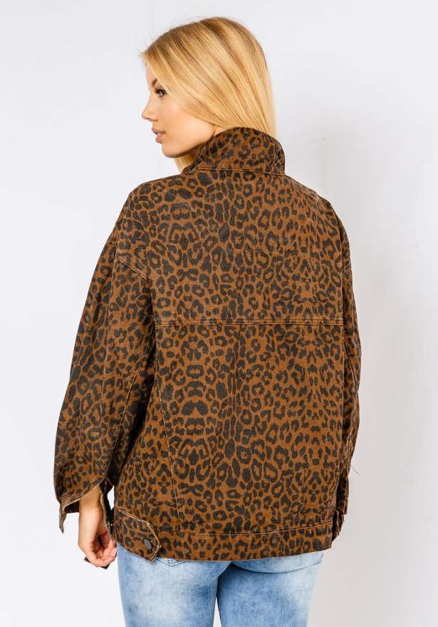 Leopard Print Jacket In Brown