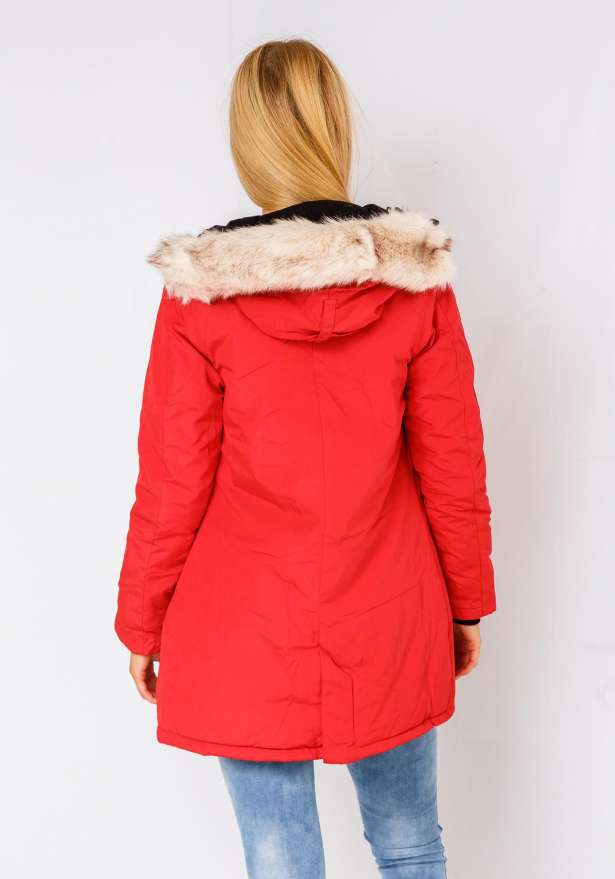 Alaska Winter Jacket In Red