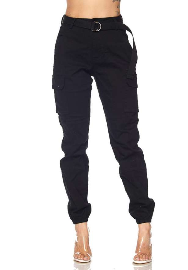 Premium Cargo Pants In Black