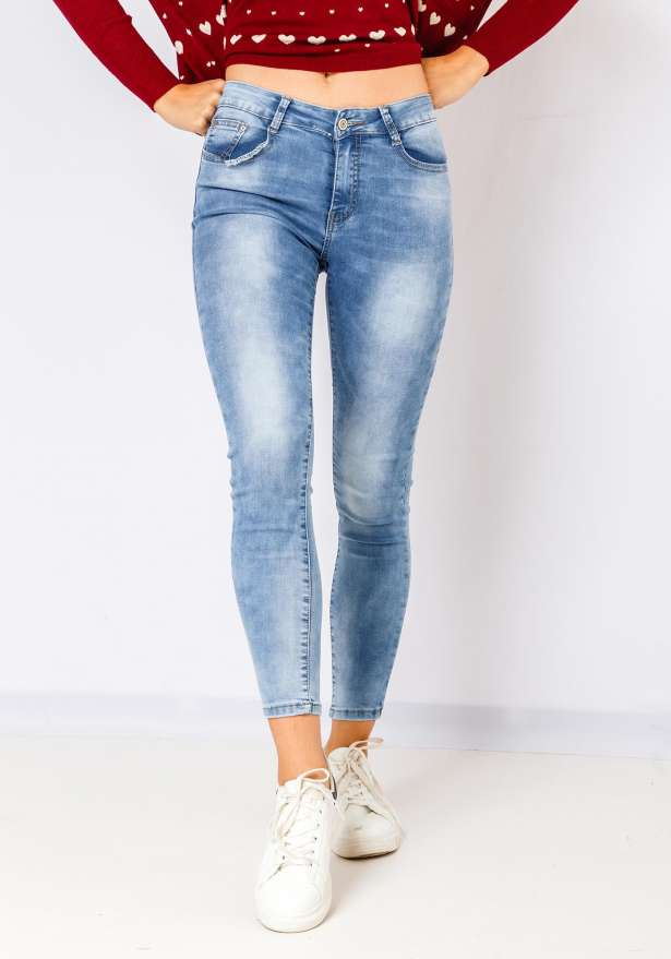 Stella Stone Washed Denim Jeans In Blue