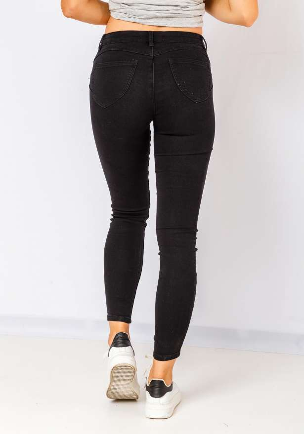 Khloe Super Stretchy Skinny Jeans In Black