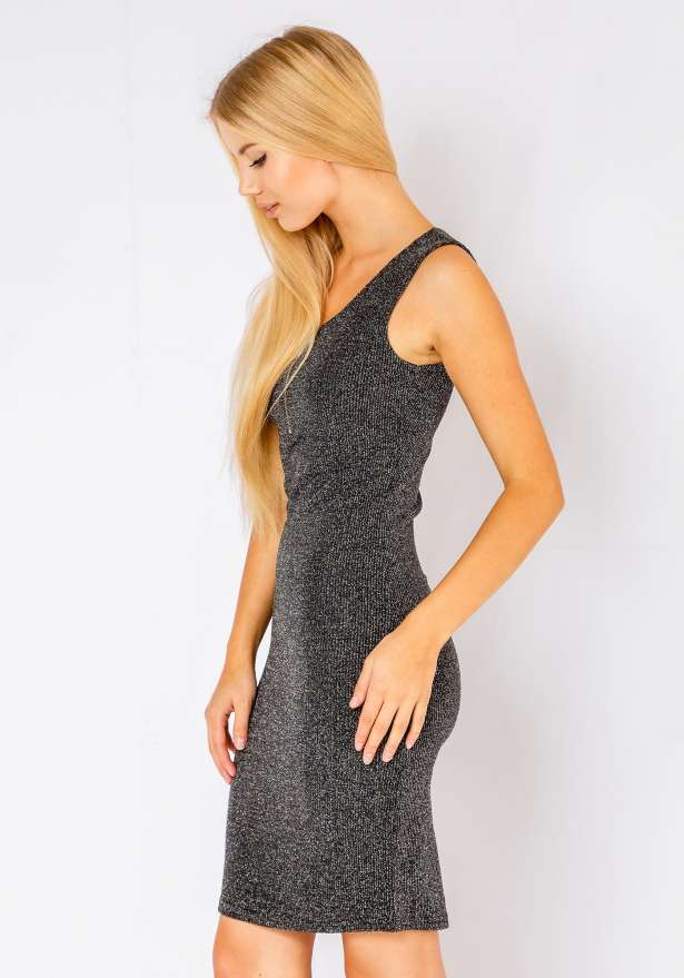Mia Sleeveless Bodycon Dress In Grey