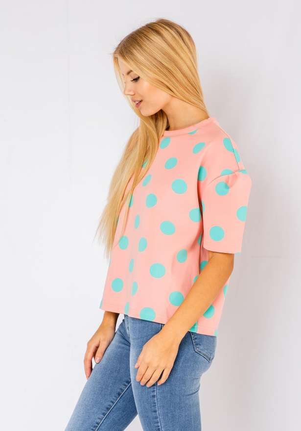 Polka Sweater In Pink