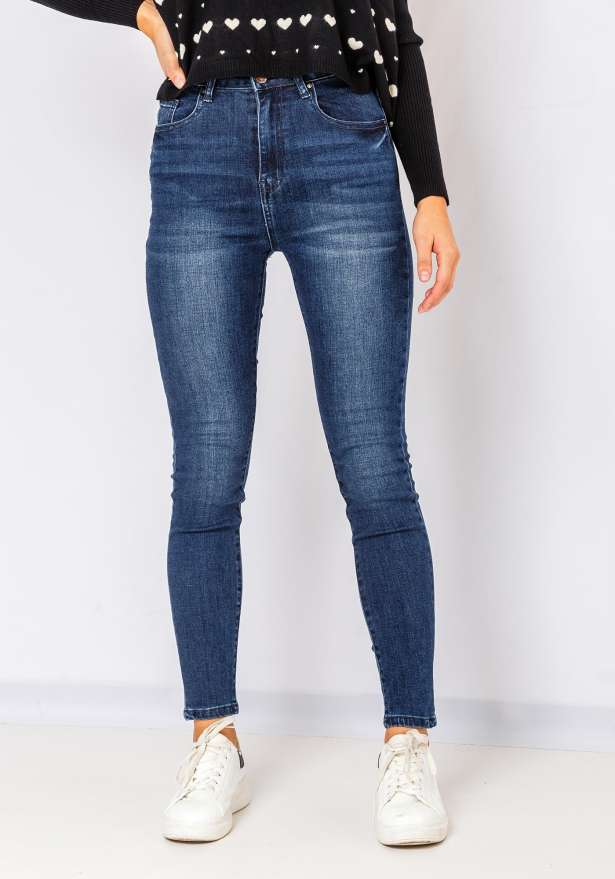 Amanda Skinny Denim Jeans In Blue