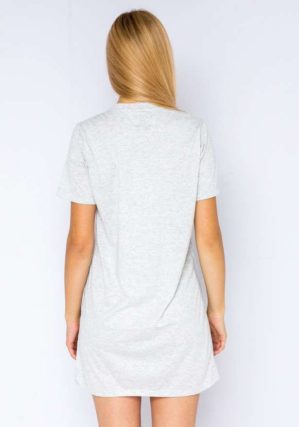 New York Knicks T-Shirt Dress In Grey