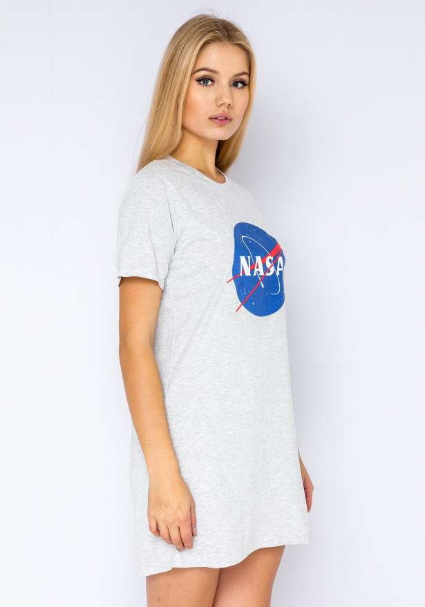 NASA T-Shirt Dress In Grey