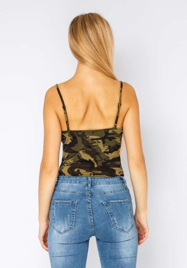 Fiorebel Camo Bodysuit In Green