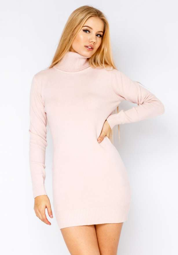 Poolo Knitted Dress In Pink