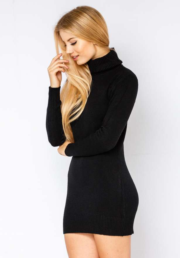 Poolo Knitted Dress In Black