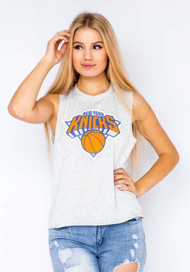 New York Knicks Moto Tanktop In Grey