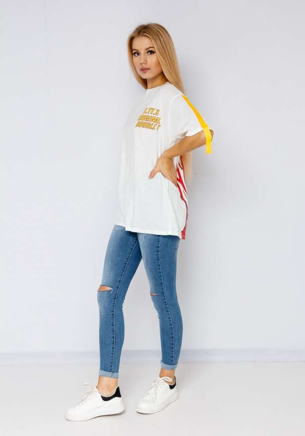 Dt Orginal Boyfriend Tee In White