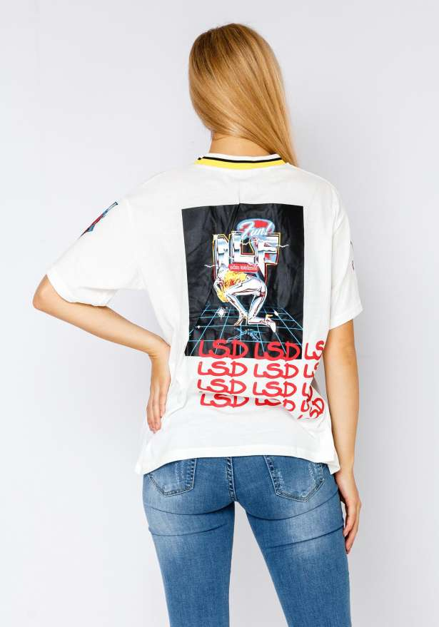 Genius Flag Tee In White