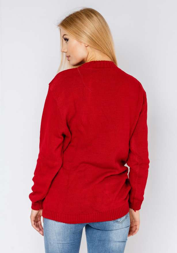 Hohoho Sweater In Red