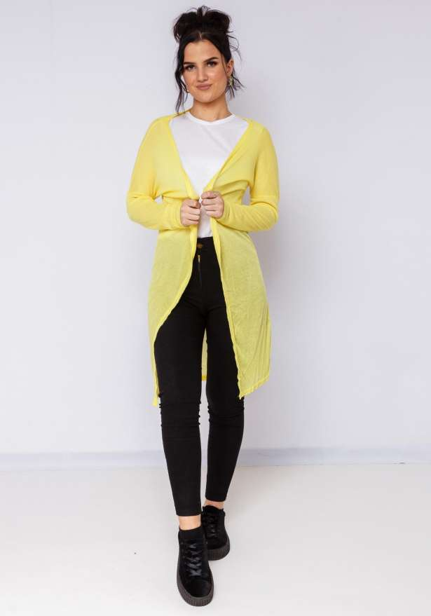 Super Chill Cardigan In Yellow