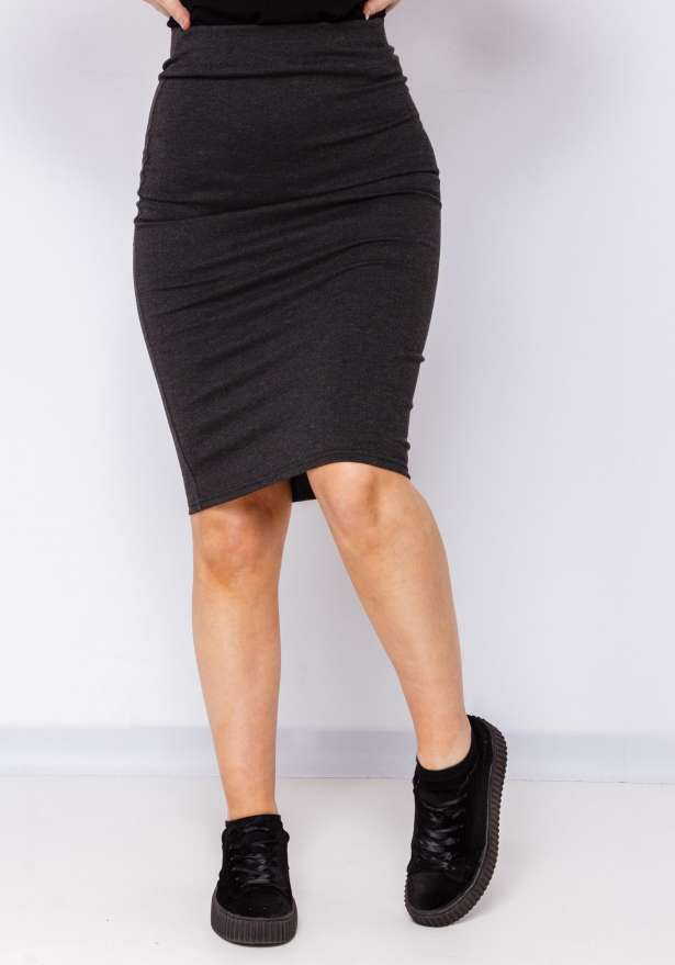 Boss Lady Skirt In Charcoal