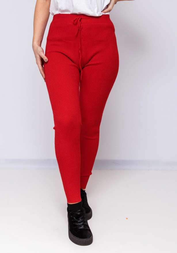 Super Comfy Stretch Fit Pants In Red