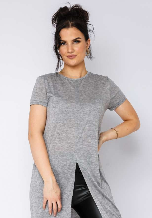 Loose Fit T-shirt Dress Mid Cut In Grey