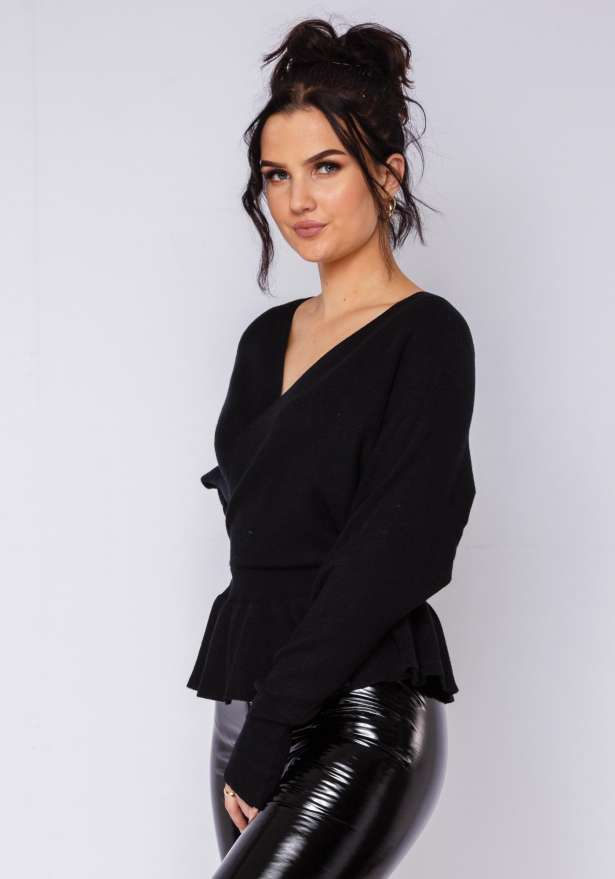 Louise Knitted Shirt In Black