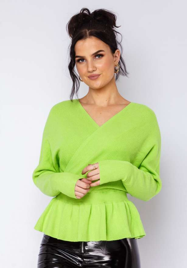 Louise Knitted Shirt Neon Green