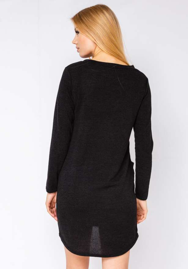 Knit-Dress With Pockets In Black