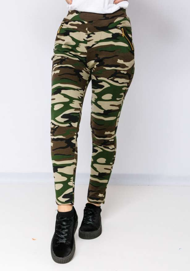 Camo Leggings 951 In Light Brown