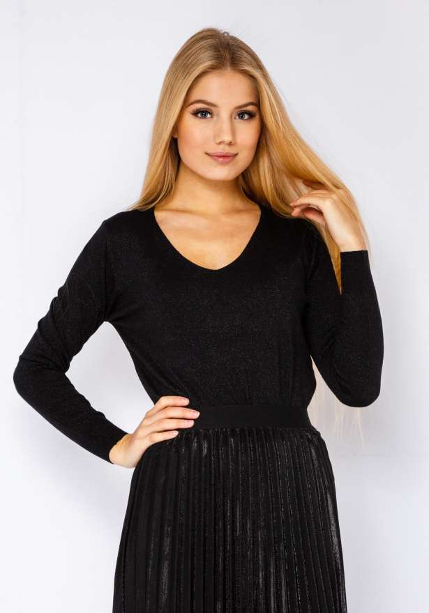Glitter Sweater In Black