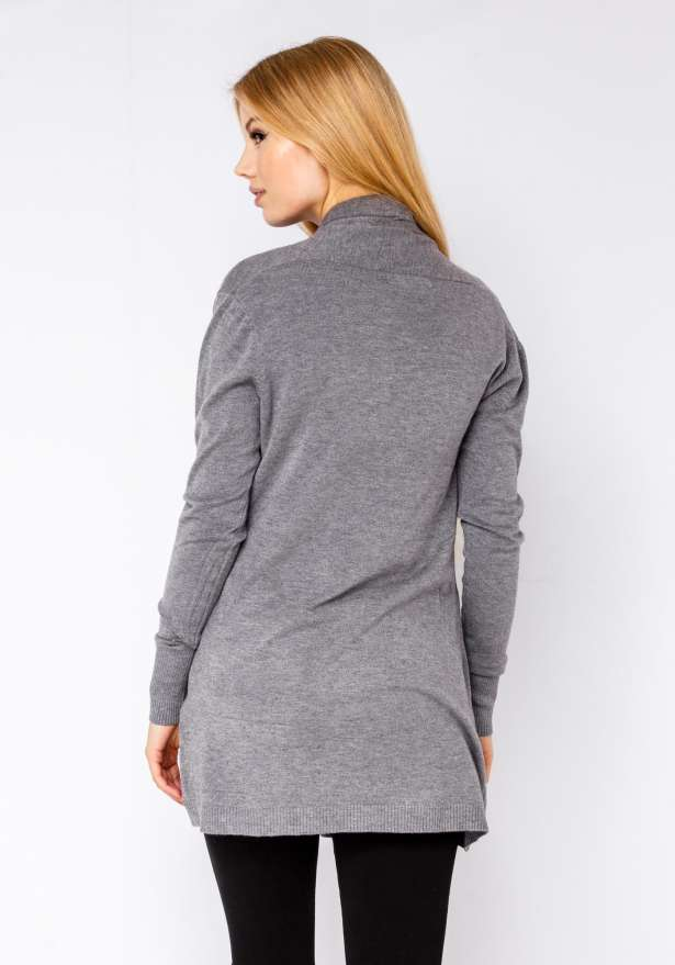 Cardigan Soft Feel In Grey