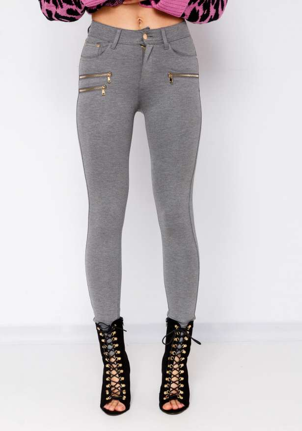 Perfect Fit Skinny Jeans In Light Grey
