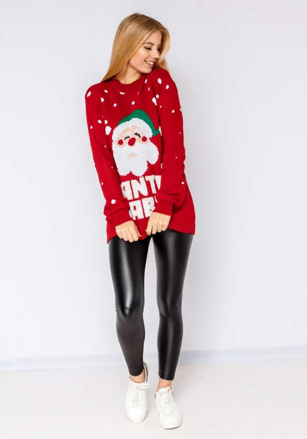 Santa Baby Sweater In Red