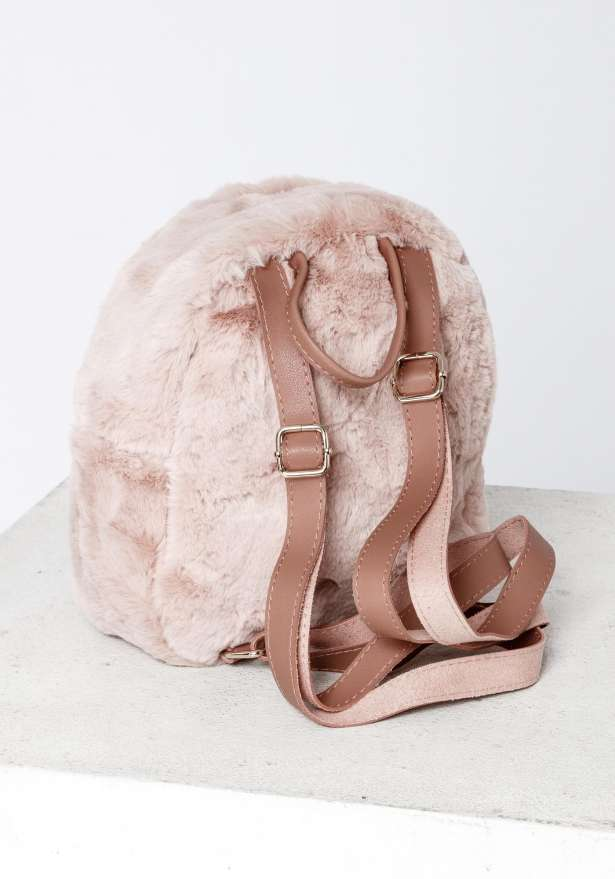 Furry Cutie Backpack In Pink