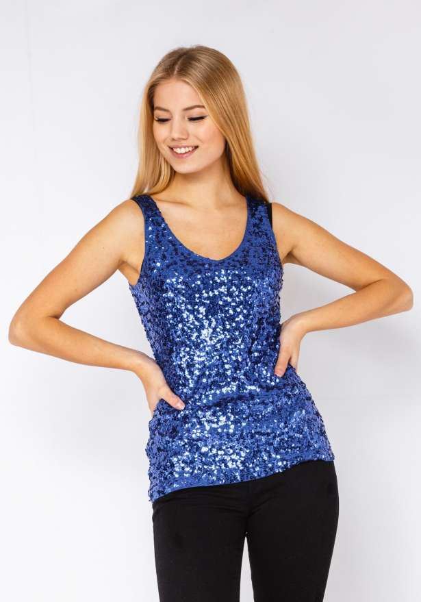 Dont Let The Night End Top In Blue