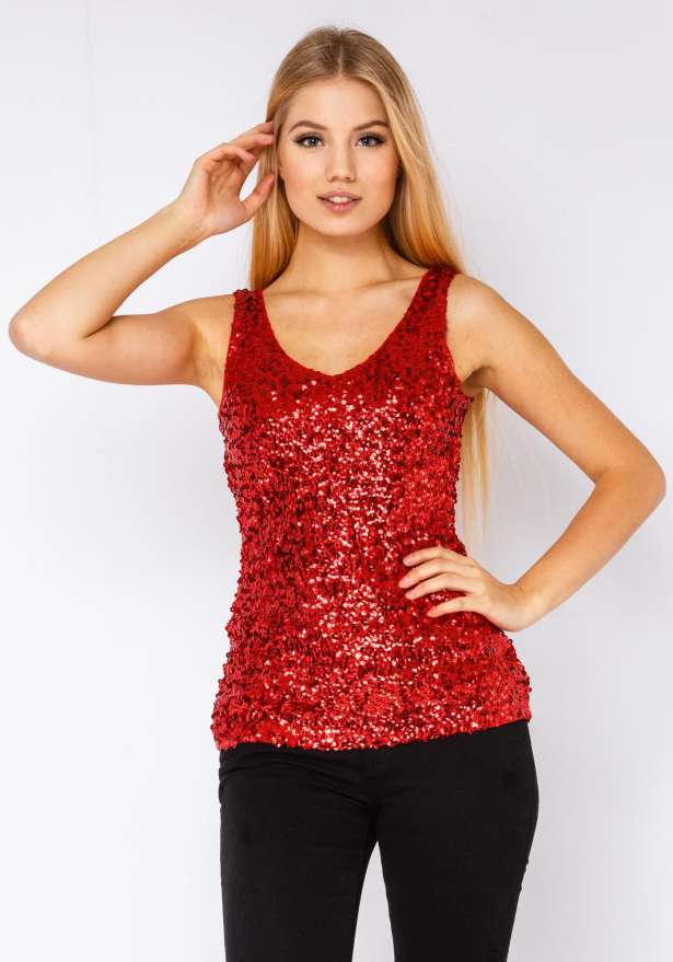 Dont Let The Night End Top In Red